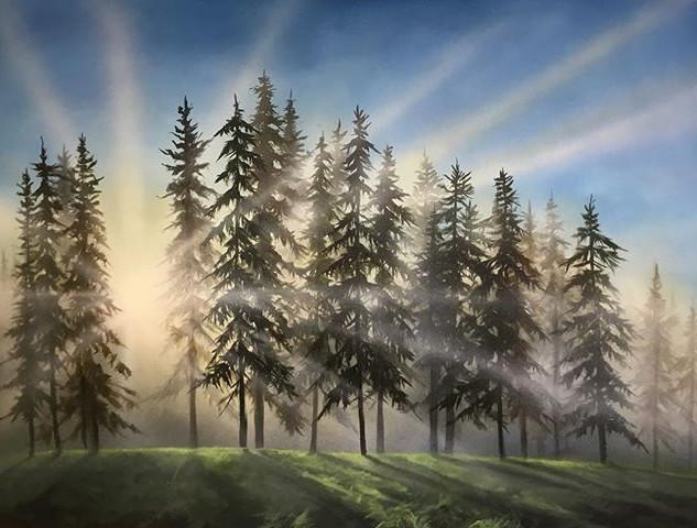 forest light 42_ x 55_