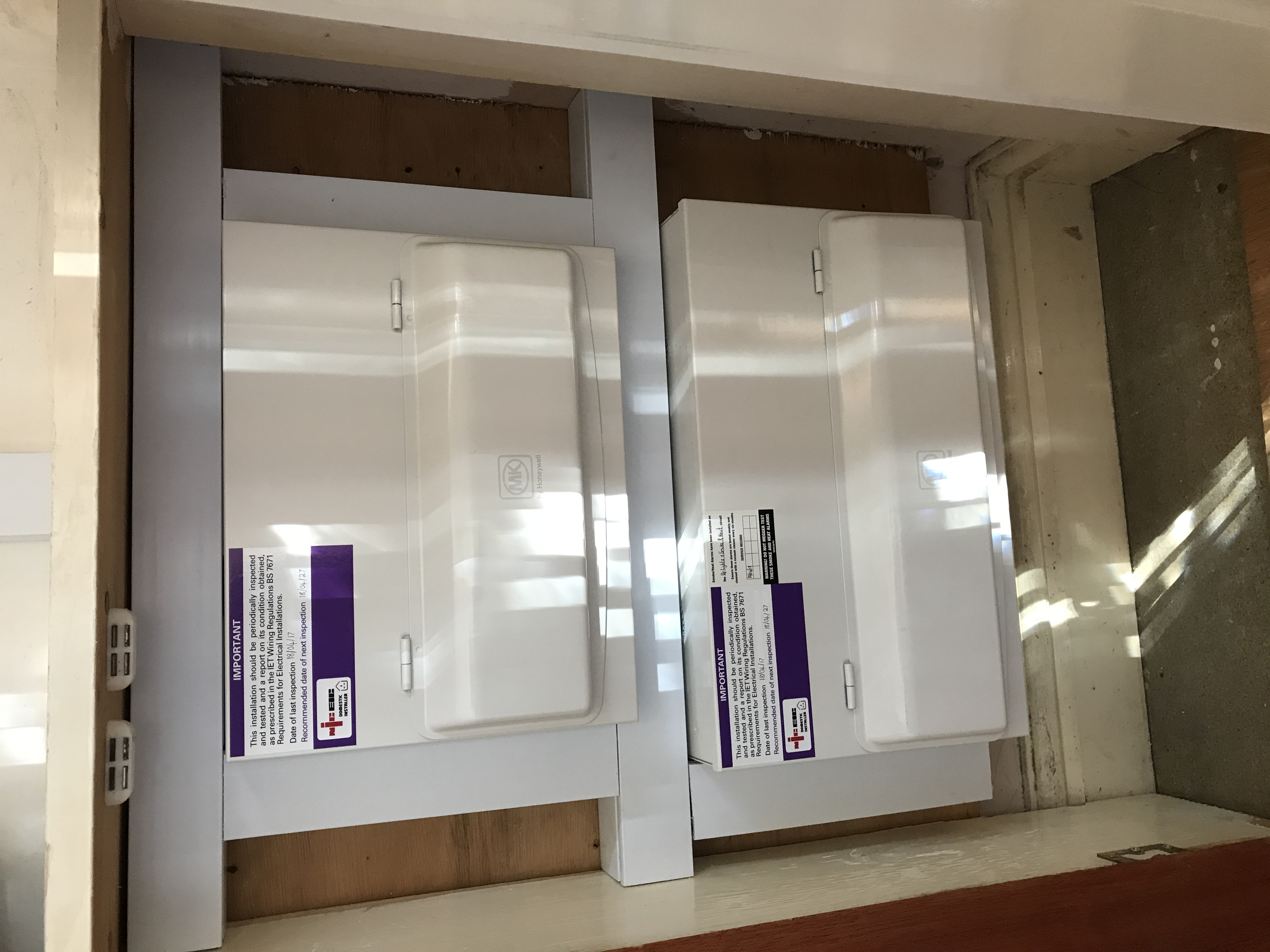 New Consumer Units (after rewire)