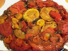 Heirloom tomato tart tatin