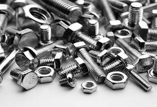 Hardware materials, screws, and nuts.