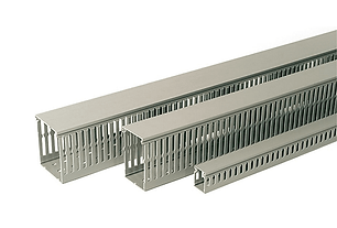 Enclosure trunking and electrical installation materials.