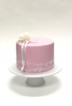 pink christening