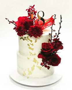 red florals