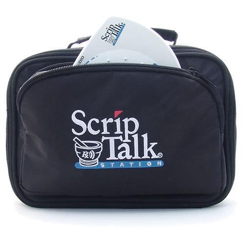 Black Travel Case with Embroidered ScripTalk Logo