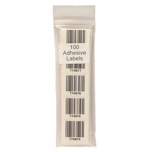 Pack of 100 Adhesive Labels in Clear Bag