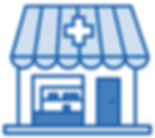 Illustrated Icon of a Pharmacy Building