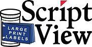 ScriptView-Script-View-Large-Print-Prescription-Label-Logo