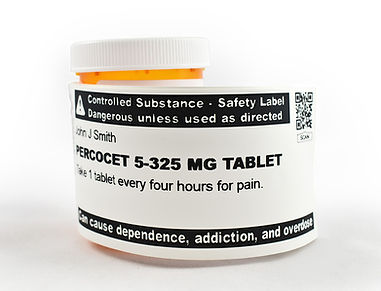 ScriptView Controll Substance Safety Prescription Label
