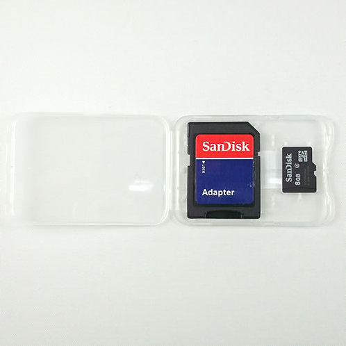 Micro SD Card in Clear Plastic Case