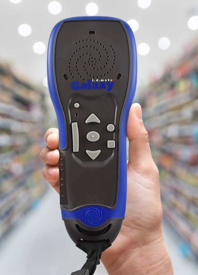 Hand holding the i.d. mate galaxy scanner