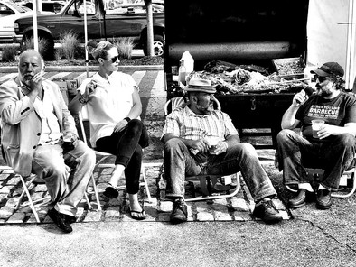 Brisket King Partner Jimmy Carbone & friends Pig Island