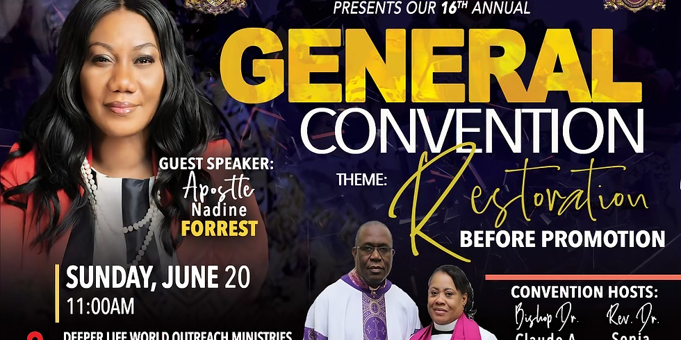 General Convention! One DAY ONLY