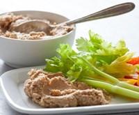 Cauliflower Hummus with Olives