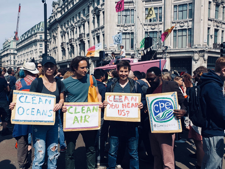 CPE team join #ClimateProtests in London - adding their voice and support