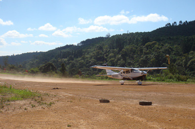 Dirt strip landing