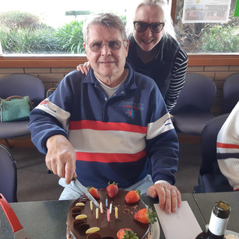 Heinz' birthday, our club member