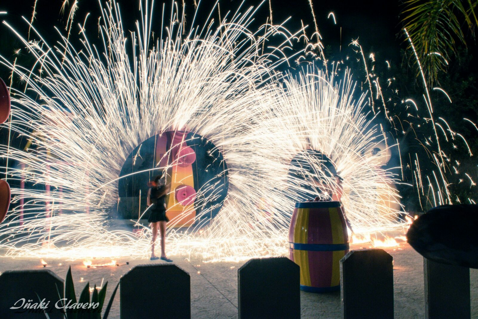 Pyrotechnia fire show