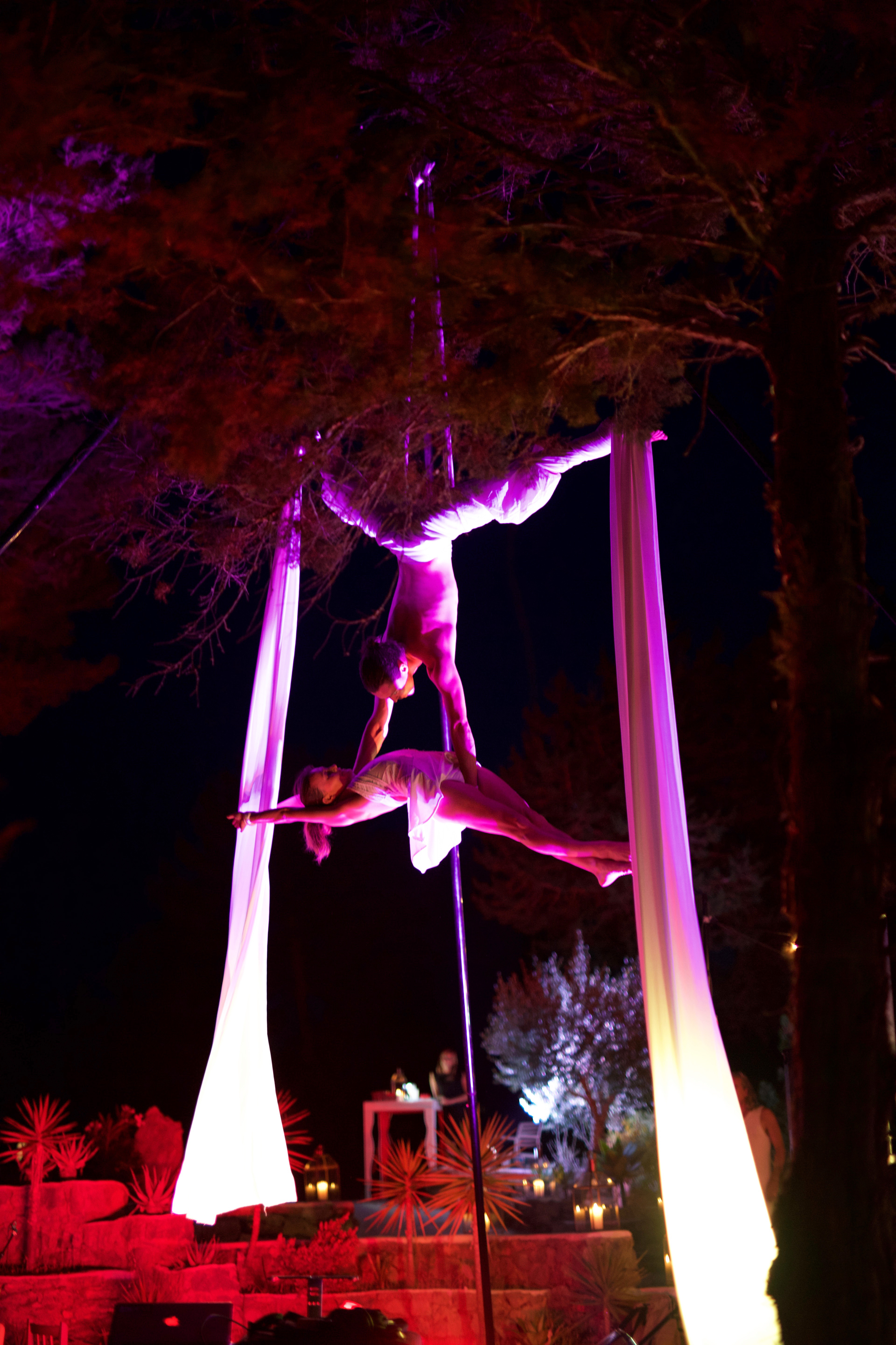 Duo aerial show