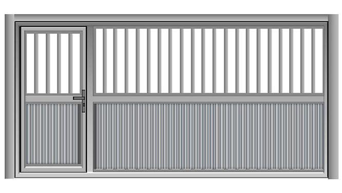 portão de aço automática