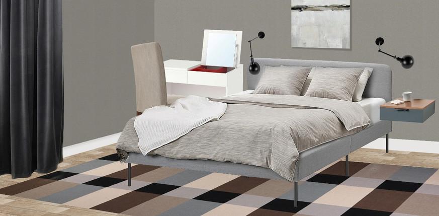 Коллаж спальни