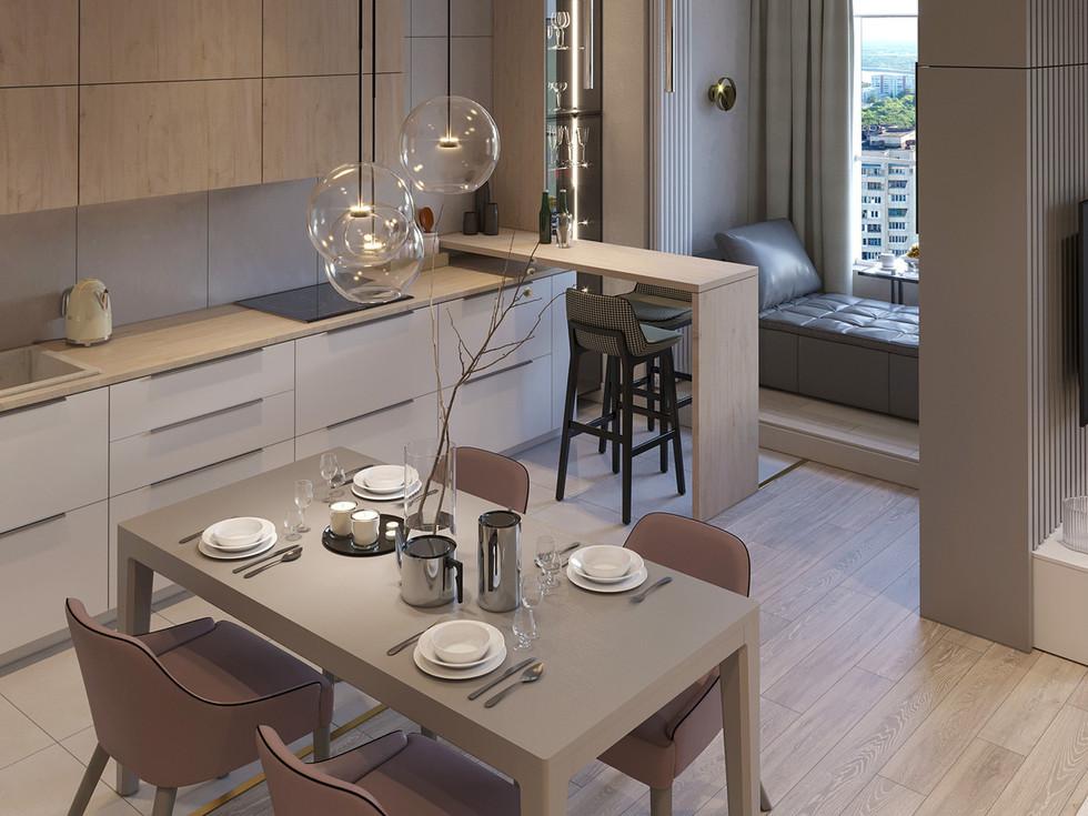 Кухня - столовая 2