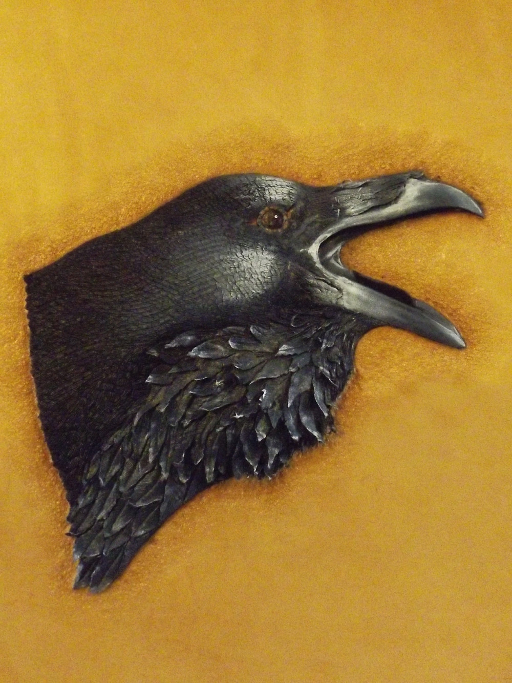Raven - Leather Art from Mike Francis