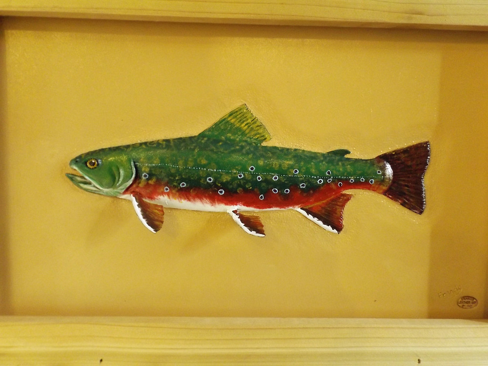 Trout - Leather Art from Mike Francis