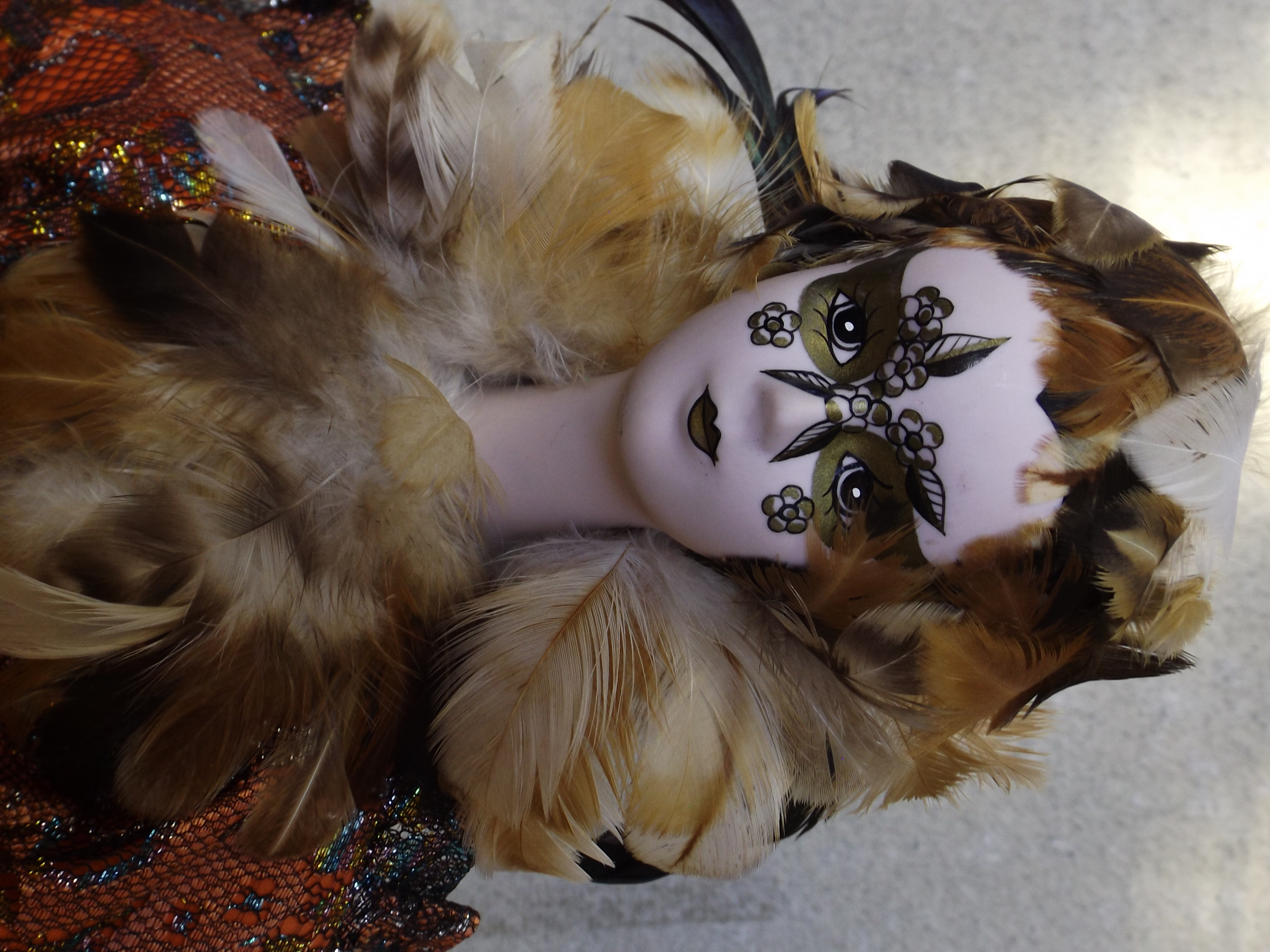 Vintage Mardi Gras Doll