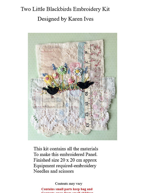 Two Little Blackbirds Embroidery Kit
