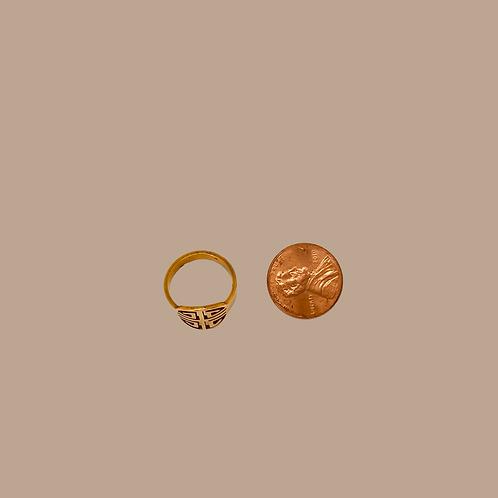Mayan Ring 24K Gold Plated
