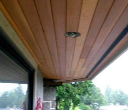 Cedar soffit