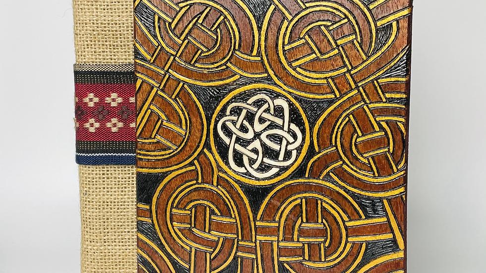 Jute Woven + Wooden Notebook