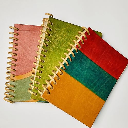 Striped Sustainably Sourced Spiral Notebook