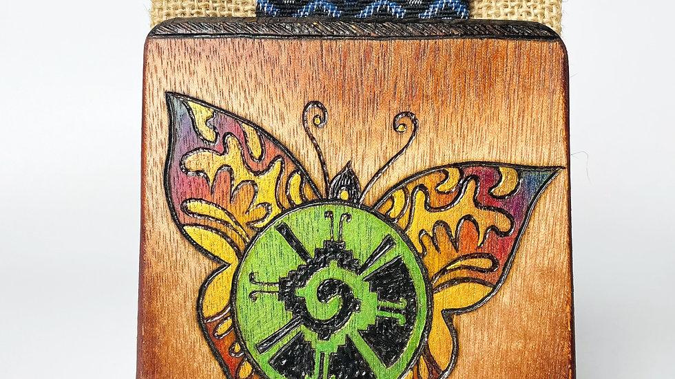 Woven  + Wooden Notebook
