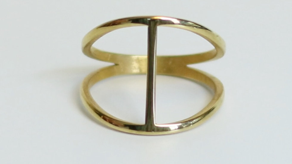 Mid-Century 24K Gold Plated Ring