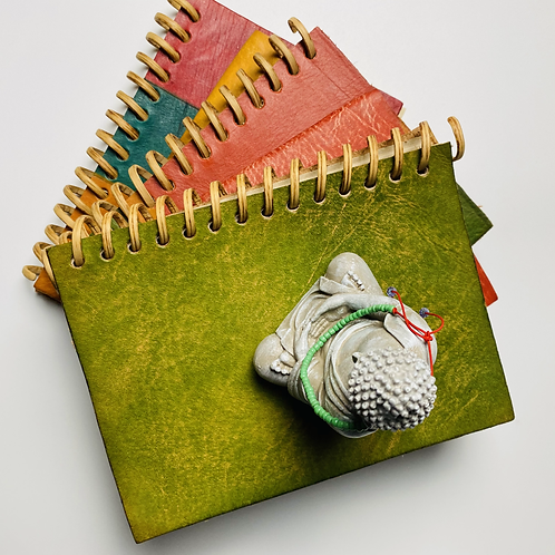 Vintage Green Sustainably Sourced Spiral Notebook