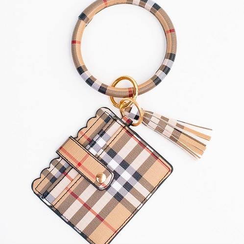 Plaid Tassel Cardholder Key Ring