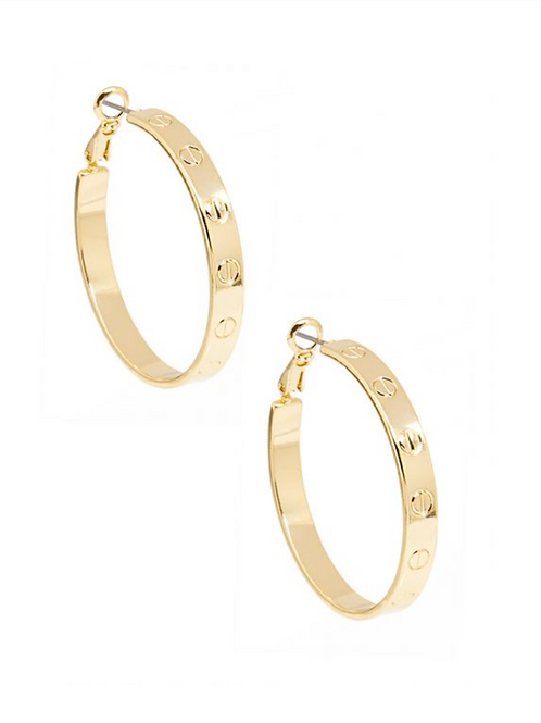Small Bolted Hoop Earrings
