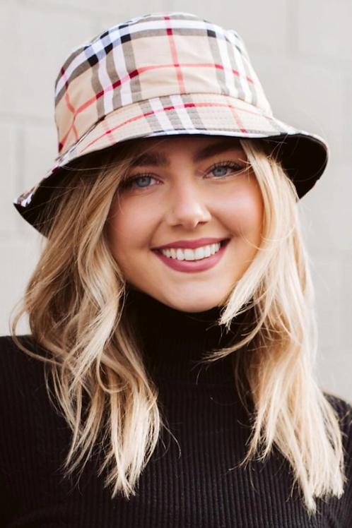 English Plaid Bucket Hat