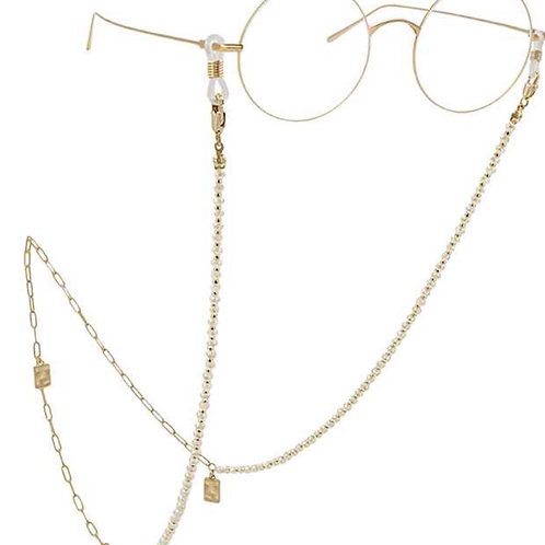 Champagne Sparkle Beaded Mask / Glasses Chain