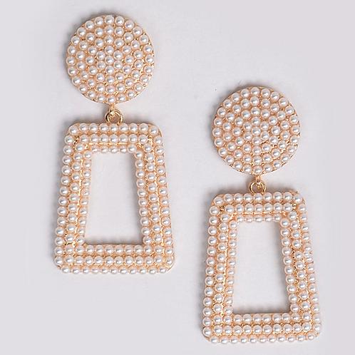 Pearl Bangle Earrings