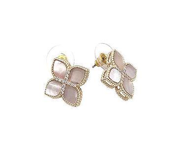 Mother of Pearl Princess Flower Earrings
