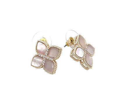 Mother of Pearl Princess Flower Stud