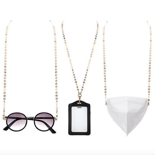 Classy, Fancy, Schmancy Metallic Glasses / Mask Chain