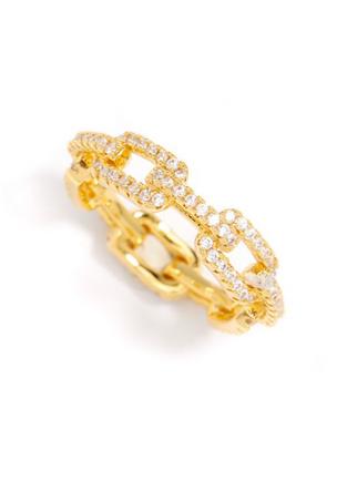 Crystal Link Ring