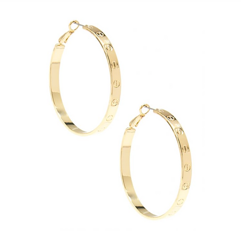Large Bolted Hoop Earrings