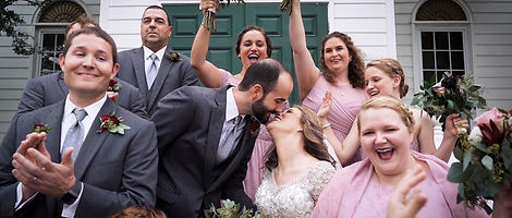 wedding-party-cheering