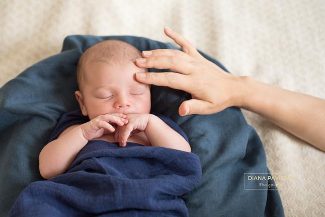 William's newborn photo shoot
