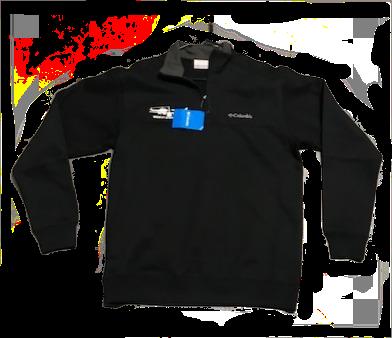 Columbia Half Zip Sweat Shirt Men's Black