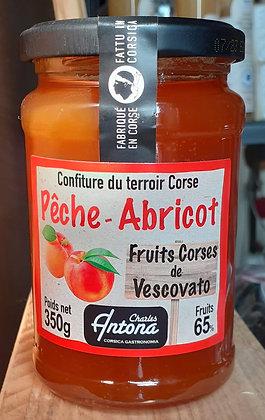 Confiture du Terroir Corse - Pêche Abricot 350 g